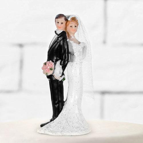Tortenfigur Hochzeit Brautpaar Tortenaufsatz Tortendeko Hochzeitspaar für Torte
