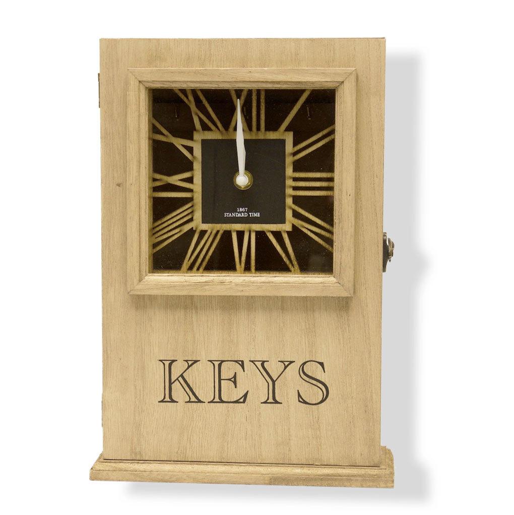 cl s avec horloge murale antique horlogerie nostalgie montre en bois touches ebay. Black Bedroom Furniture Sets. Home Design Ideas
