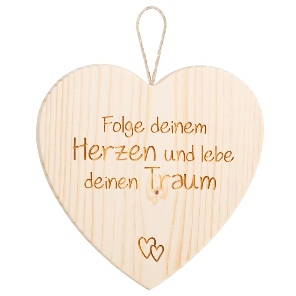 Großes Holzherz + Lasergravur Holz Herz-Hänger Valentinstag Liebe