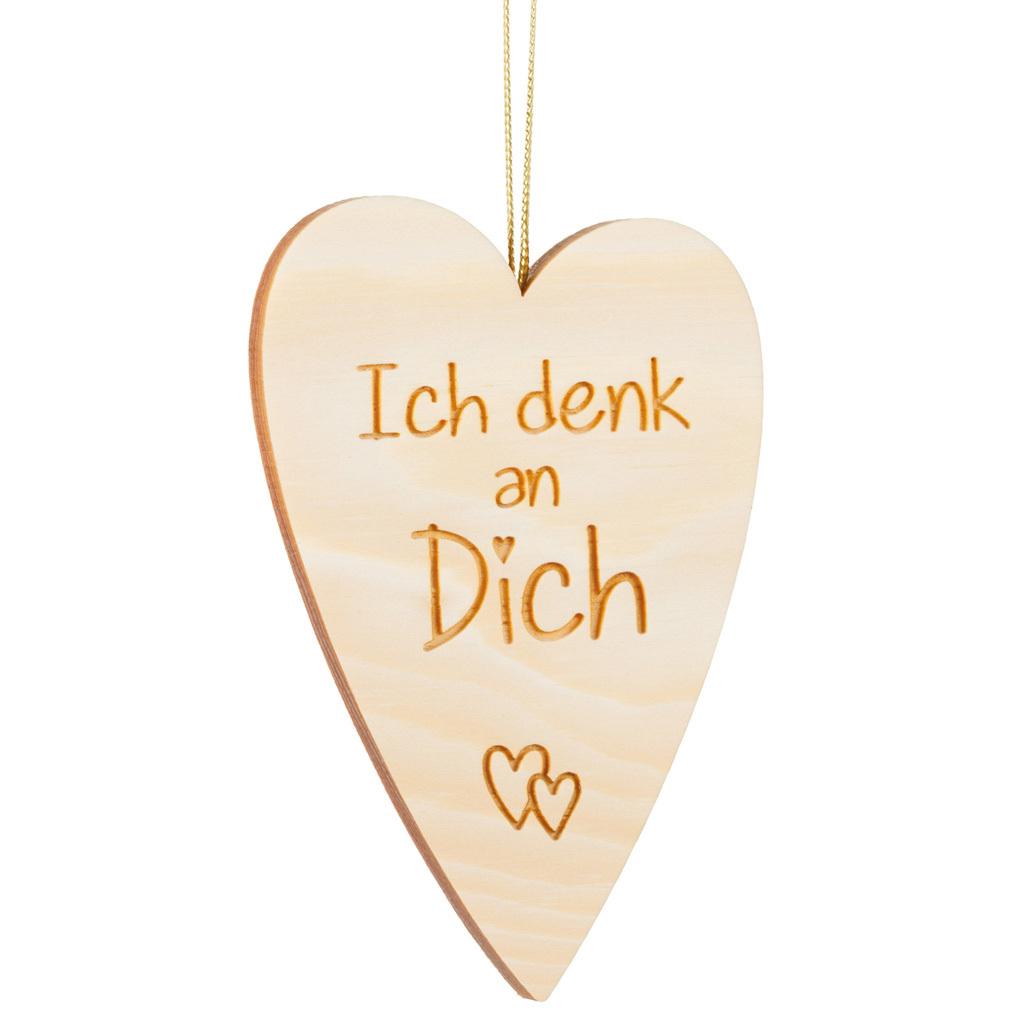 Holzherz Zirbenholz + Lasergravur Liebe Holz Herz-Hänger Valentinstag
