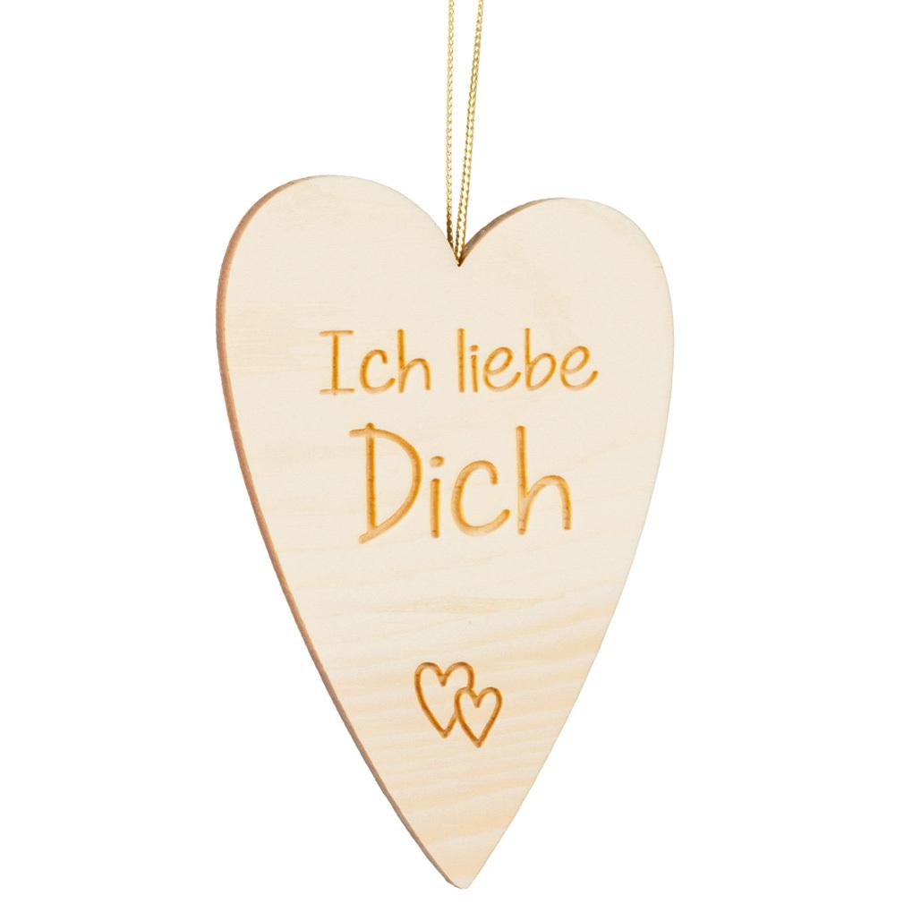 Holzherz Zirbenholz + Lasergravur Holz Herz-Hänger Liebe Valentinstag