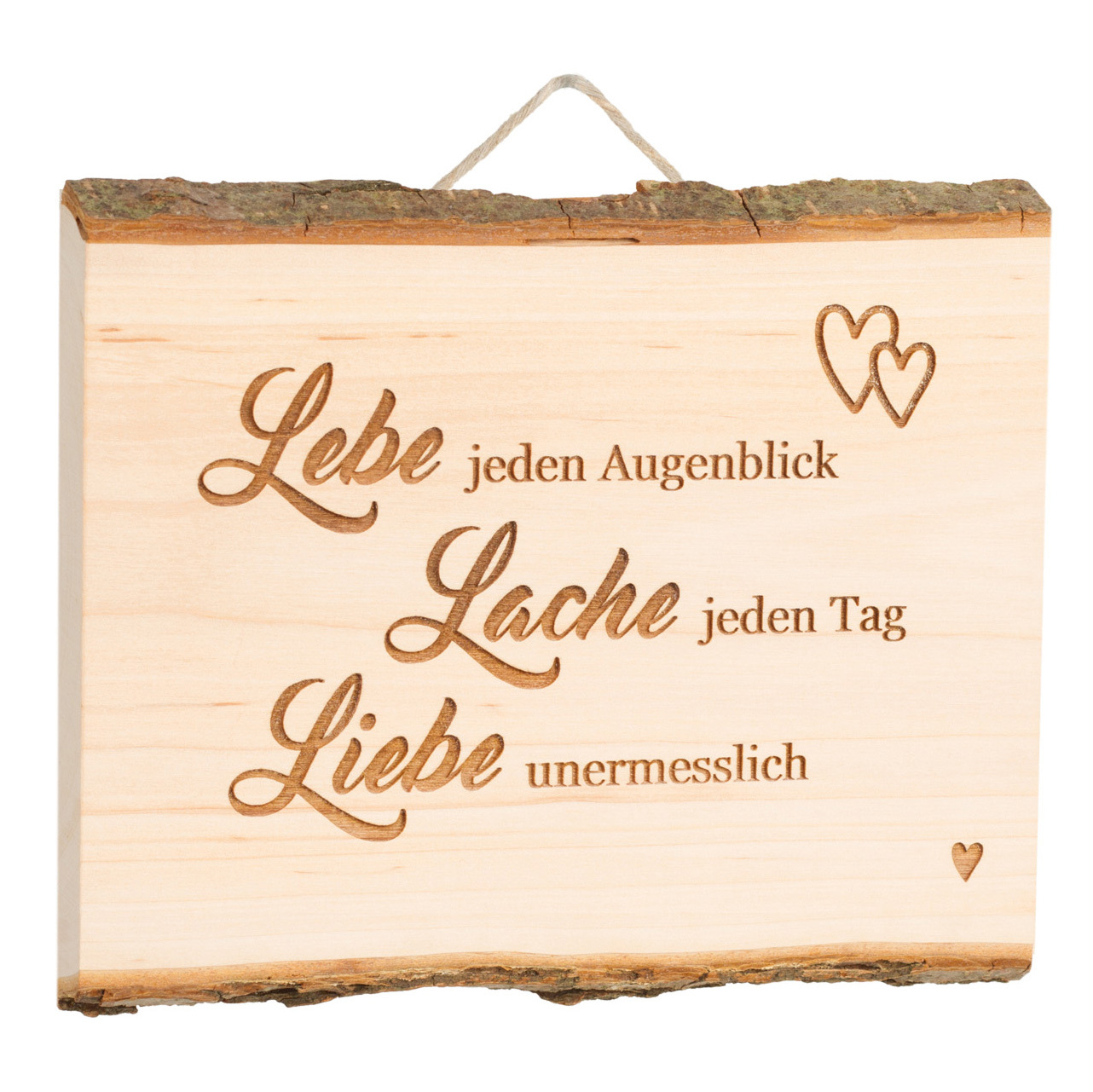 Holztafel + Lasergravur Liebe Holz-Hänger Dekoration